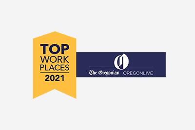 Oregon/Southwestern Washington Top Workplaces 2021 Awards